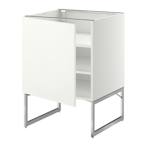 МЕТОД Напольный шкаф с полками - 60x60x60 см, Хэггеби белый, белый