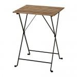 TÄRNÖ садовый стол черный/светло-коричневая морилка