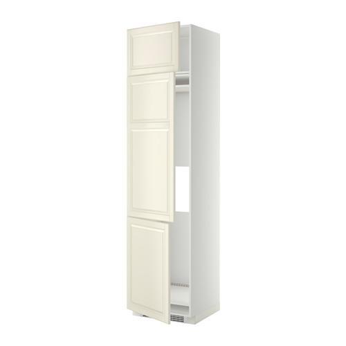 МЕТОД Выс шкаф для хол/мороз с 3 дверями - 60x60x240 см, Будбин белый с оттенком, белый