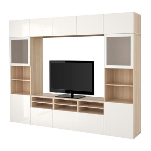 besto tv schrank kombiniert glast ren unter gebleicht. Black Bedroom Furniture Sets. Home Design Ideas