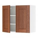 ФАКТУМ Навесной шкаф с 2 дверями - Ликсторп коричневый, 80x92 см