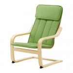 POAGEN Children's chair - birch veneer / Almos green