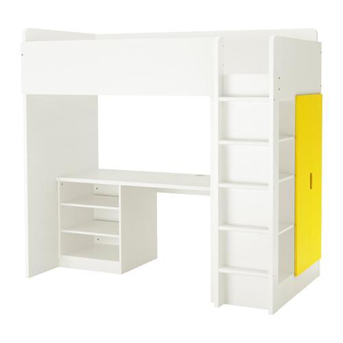 STUVA letto a soppalco mensola porte 2 2 bianco giallo