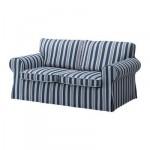 ЭКТОРП Чехол на 2-местный диван-кровать - Обин синий