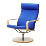 Poeng swivel chair - Granon blue