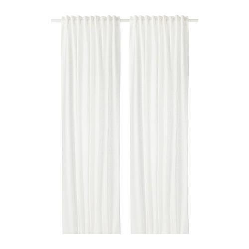 AINA curtains, 1 pair white