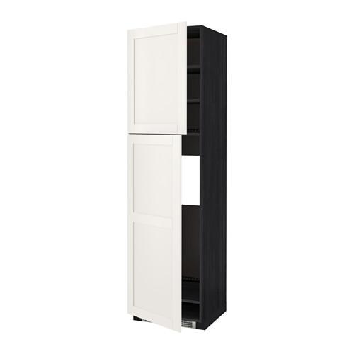 Metod высокий шкаф дхолодильника2дверцы черныйсэведаль