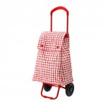 KNELLA shopping bag on wheels - - red / white