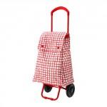 shopping bag KNELLA su ruote - - rosso / bianco