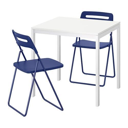 Ikea Sedie Pieghevoli Nisse.Meltorop Nisse Table E 2 Sedie Pieghevoli 492 807 06