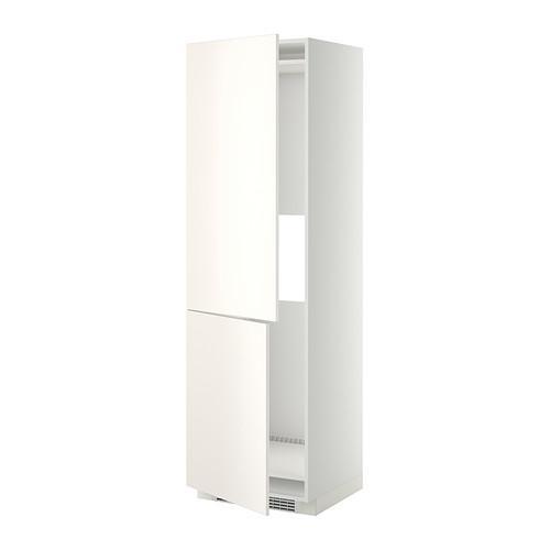 МЕТОД Выс шкаф д/холодильн или морозильн - 60x60x200 см, Веддинге белый, белый