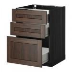 MÉTODO / gabinete FORVARA Base con cajones 3 - 60x60 cm Edserum madera madera marrón negro
