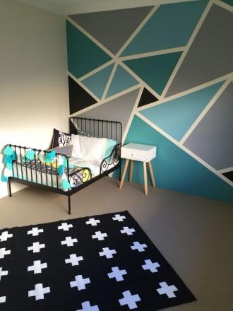 Большая детская комната для мальчика с кроваткой МИННЕН ИКЕА