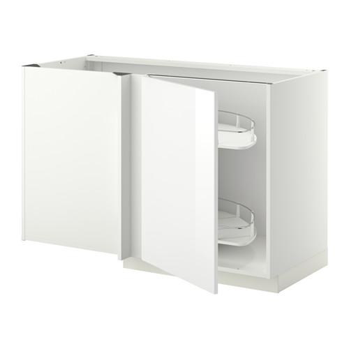 МЕТОД Угловой напол шкаф с выдвижн секц - Рингульт глянцевый белый, белый
