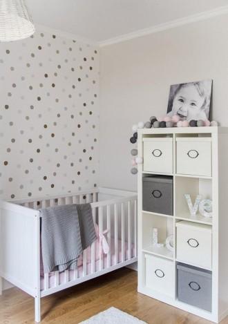 Светлая детская комната с мебелью ИКЕА