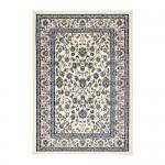 VALLÖBY carpet, short pile beige / blue 133x195 cm