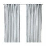 BERGPION curtains, 1 pair of white