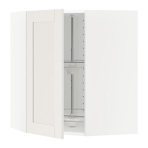 МЕТОД Угл нвсн шкф с вращающ секц - 68x80 см, Сэведаль белый, белый