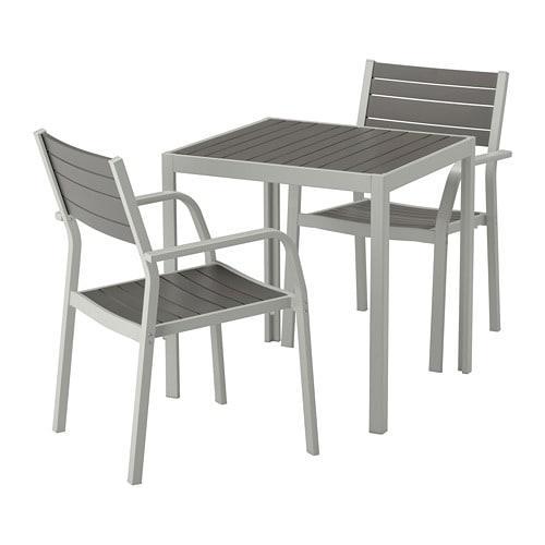 Poltrone Ikea Da Giardino.Shelland Tavolo Da Giardino E Poltroncine 2 Leggere Shelland