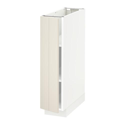МЕТОД Напольный шкаф с полками - 20x60 см, Хитарп белый с оттенком, белый