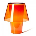Hawick lampe de table - Orange / verre dépoli