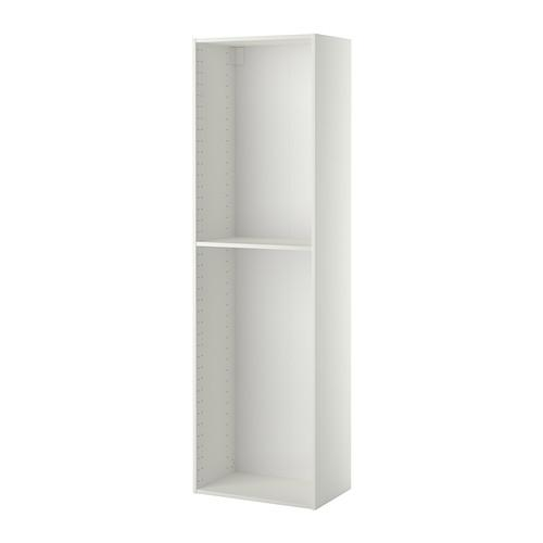 МЕТОД Каркас высокого шкафа - белый, 60x37x200 см