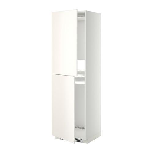 МЕТОД Высок шкаф д холодильн/мороз - 60x60x200 см, Веддинге белый, белый