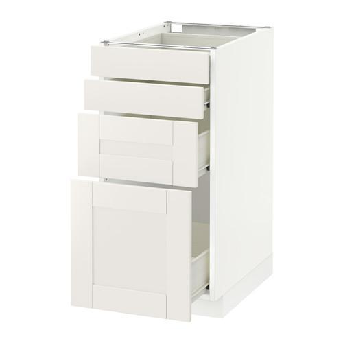 VERFAHREN / FORVARA Unterschrank Frontplatte 4 / 4 Schublade - weiß, weiß Sevedal, 40x60 cm