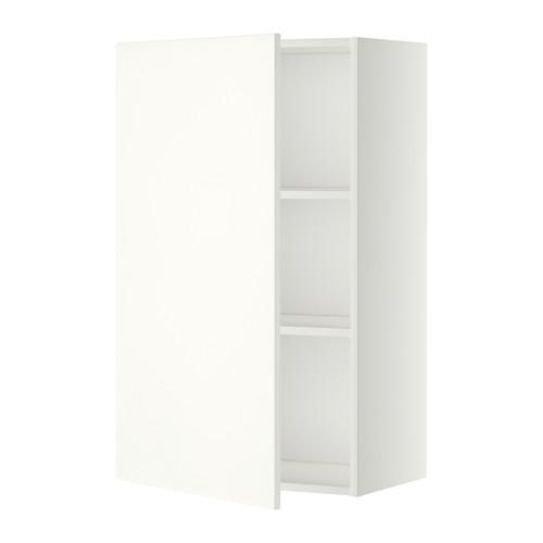 МЕТОД Шкаф навесной с полкой - 60x100 см, Хэггеби белый, белый