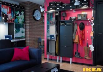 Küçük bir dairede İç koridor
