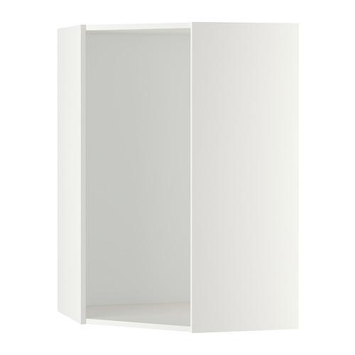 МЕТОД Каркас навесного углового шкафа - белый, 68x68x60 см