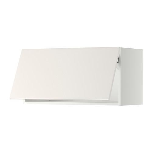 МЕТОД Горизонтальный навесной шкаф - 80x40 см, Веддинге белый, белый