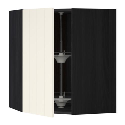 МЕТОД Угл нвсн шкф с вращающ секц - 68x80 см, Хитарп белый с оттенком, под дерево черный