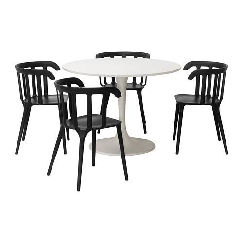Ikea Eettafel 4 Stoelen.Docksta Ikea Ps 2012 Tafel En 4 Stoel Wit Zwart 699 320 61