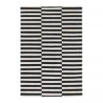 СТОКГОЛЬМ Ковер, безворсовый - 170x240 см, в полоску черный/белый с оттенком