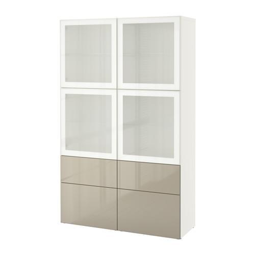 Besto combination d storage porte in vetro vetro for Specchio ikea nido d ape
