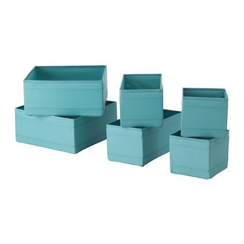 СКУББ Набор коробок, 6 шт. - голубой, -