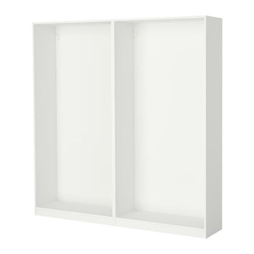 ПАКС 2 каркаса гардеробов - белый, 200x35x201 см