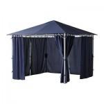 KARLSE Pavillon mit Vorhängen - Blau