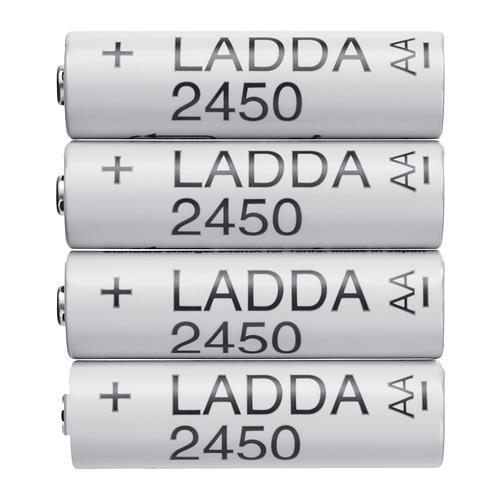 Batteria ricaricabile LADDA bianca