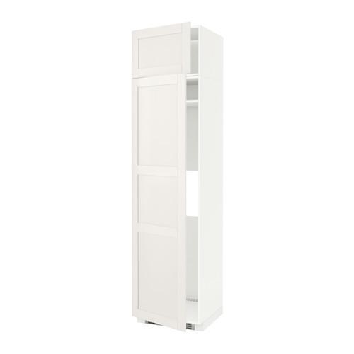 МЕТОД Выс шкаф д/холодильн или морозильн - 60x60x240 см, Сэведаль белый, белый