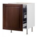 ФАКТУМ Напольный шкаф с выдвижной секцией - Лильестад темно-коричневый, 60 см