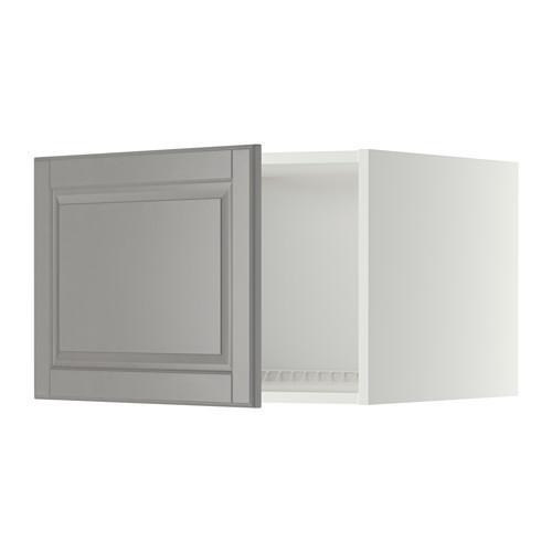 МЕТОД Верх шкаф на холодильн/морозильн - 60x40 см, Будбин серый, белый