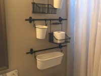 Another idea of ​​using the FINTORP series for organizing storage in the bathroom