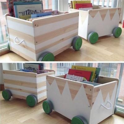 Идея дизайна ящиков для игрушек ФЛИСАТ