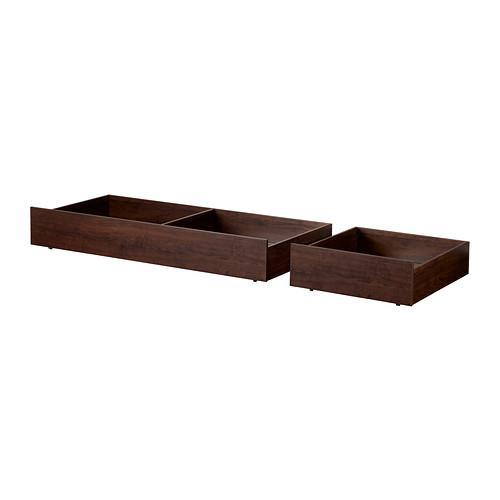 БРУСАЛИ Кроватный ящик, 2 шт. - коричневый