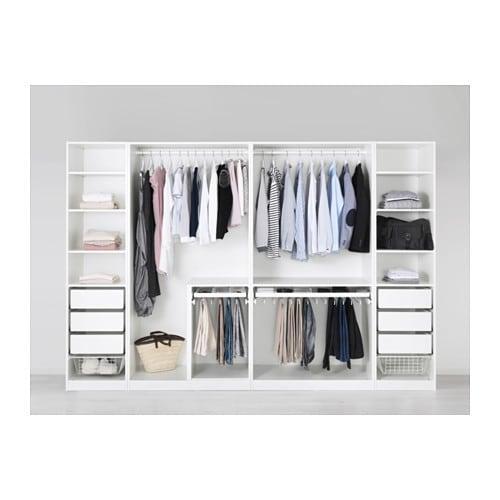 M/A: Ikea PAX vaatekaappi lasiovin - Leveys: 99.8cm Syvyys: 37.7cm Korkeus: 201.2cm