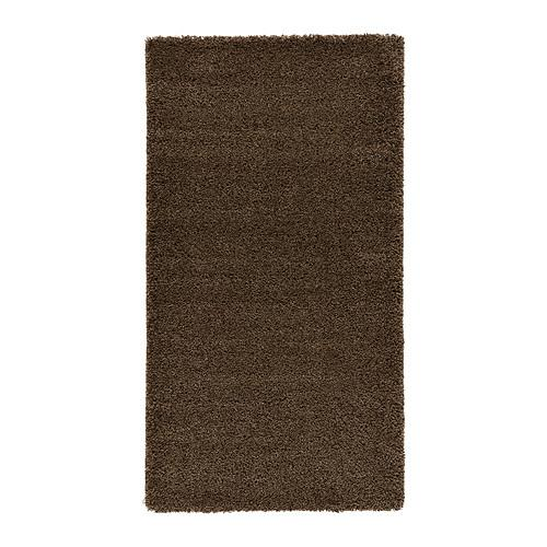 ÅDUM ковер, длинный ворс светло-коричневый 80x150 см