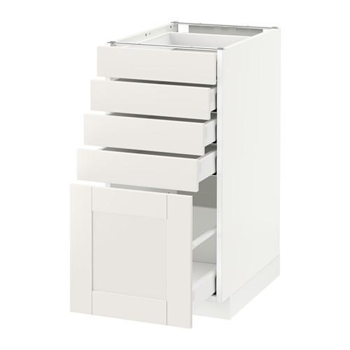 МЕТОД / МАКСИМЕРА Напольный шкаф с 5 ящиками - 40x60 см, Сэведаль белый, белый