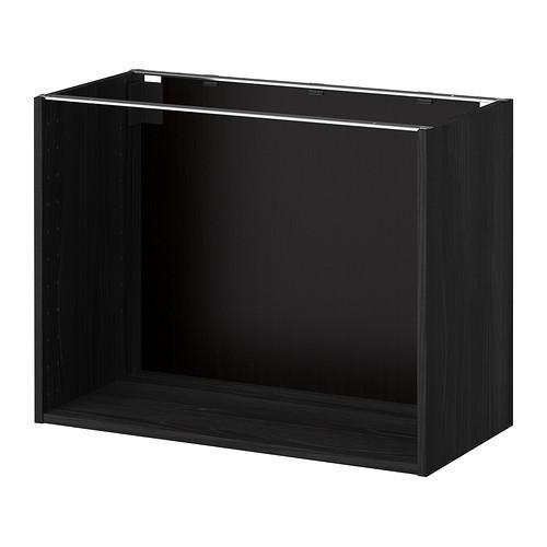 МЕТОД Каркас напольного шкафа - 80x37x60 см, под дерево черный